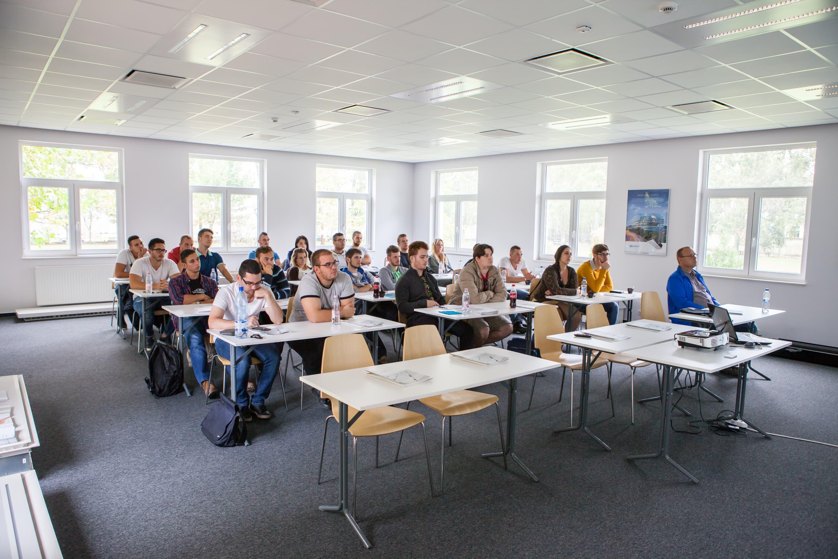 A BME, PTE és DE épületgépész hallgatóinak látogatása
